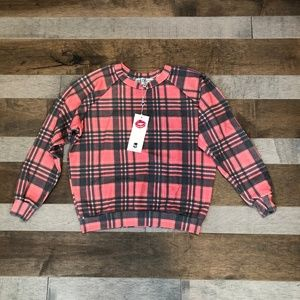 Sweetheart Plaid Sweatshirt NWT
